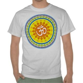 Om with Traditional Indian style Mandana Shirts