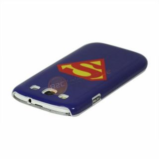 SAMSUNG GALAXY S3 i9300 Superman LOGO Oberschale Hülle Cover Tasche