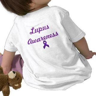 Lupus Awareness Purple Ribbon Tee Shirts