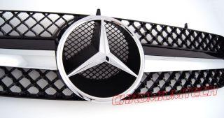 Mercedes Grill 00   06 CL Klasse W215 Schwarz Chrom AMG CL55 CL65