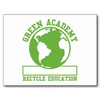 Green Recycle Academy Postcard