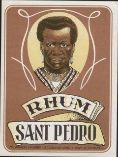 Rhum Sant Pedro / Rum   Etikett   etiquette   label   # 216