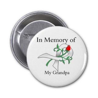 In Memory of My Grandpa   Lung Cancer Pins