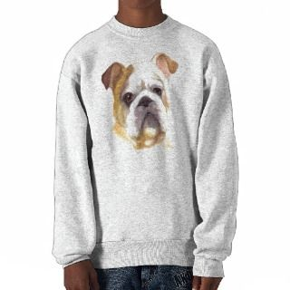 Colored Pencil Bulldog Pullover Sweatshirt