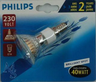 Philips Halogen Reflektor Strahler Par16 Alu E14 40W