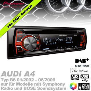 Pioneer  iPod/iPhone AUX USB DAB Digitalradio für Audi A4/B6