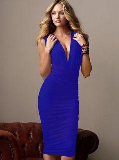 Blue Multi Way Convertible Clubwear Dress Kleid S