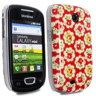 RED FLOWER CLASSIC FLORAL HARD SHELL CASE COVER FOR SAMSUNG GALAXY