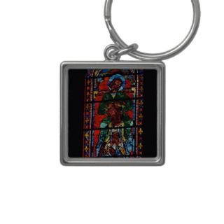 St. John the Evangelist riding the shoulders of Ez Key Chains