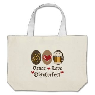 Peace Love Oktoberfest Tote Bag