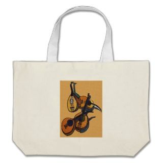 Stringed Musical Instruments Canvas Bags