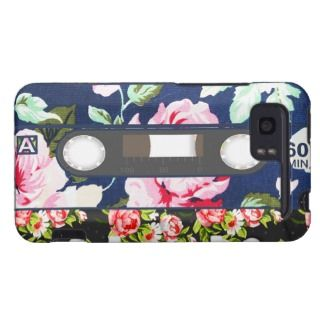 Funny Cassette Tape, girly pink floral pattern HTC Vivid Cover