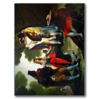 Paseo por Andaluc?a (detalle). Pintor Goya. Fotogr Postcards