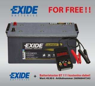 GEL Batterie Exide 12V 210Ah ES2400 G210 Boot Wohnmobil inkl
