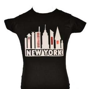 NEW YORK T SHIRT with WHITE & RED SPARKLE AGE 5 15
