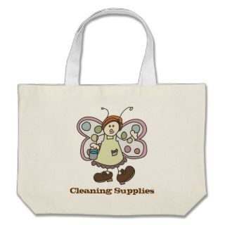 Toon Fairy Bug Lady Cleaning Supplies Tote Bag