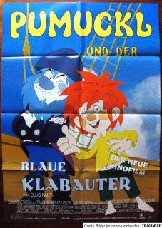 blaue Klabauter 1994 Gustl Bayrhammer Zeichentrick Plak A1#233