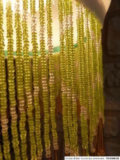 Art Deco PENDELLEUCHTE LAMPE Glas mit feinen Perlen handbemalt