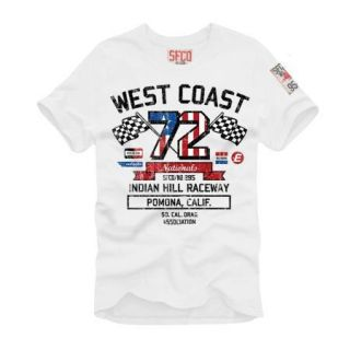 SFCO SUPERFLY T Shirt WEST COAST white NEU OVP // 11444