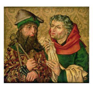 St. Joseph and Nicodemus on Gold Ground Panels Giclee Print by Michael Wolgemut Or Wolgemuth
