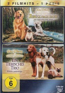 Zurück nach Hause + Ein tierisches Trio  2 DVD NEU 227