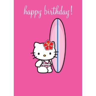 Hello Kitty, Happy Birthday Greetings Card, Surfer Küche