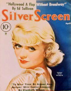 Constance Bennett   Silver Screen Magazine Cover 1940s Masterprint