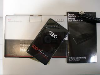 Audi Externe 250GB USB Festplatte 100 Jahre Audi