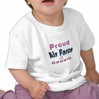 Proud Air Force Cousin Toddlers Tshirt