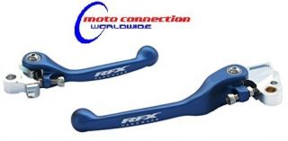 RFX Aluminium flexi brake & clutch levers Blue Yamaha YZF250 01 06