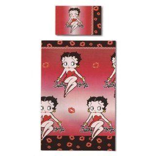 Bettwäsche Betty Boop, Decken  und Kissenbezug, (schwarz/rot