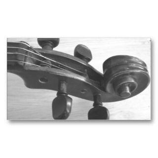Violin teacher business card design for lessons