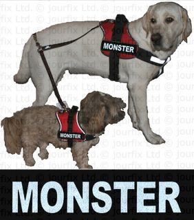 MONSTER 1x Logo klein weiß für Julius K9® Hundegeschirr Geschirr