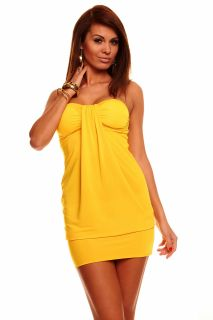 Sexy Bandeau Minikleid Partykleid Longtop Long Top Shirt Sommerkleid