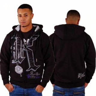 Karl Kani Big K Logo Zip Hoody Black Gr S Kapuzen Jacke Jacket hiphop