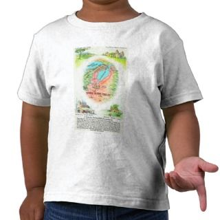 Aerial Map of Santa Clara County with Sites Tshirts