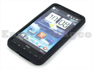 Soft Silicone Rubber Case for HTC HD2 Leo T8585 Black