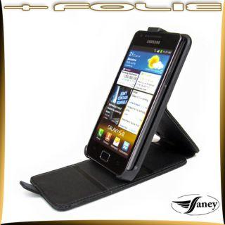 Samsung i9100 Galaxy S2 /Leder/Tasche/Hülle/Etui/Schutz/Folie