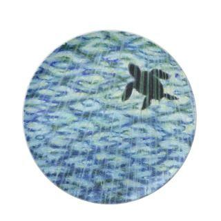 Sea Turtle Silhouette Plate