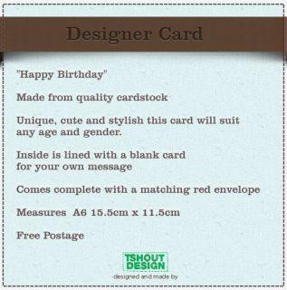 Unique Cute Handmade Designer Card Unisex HAPPY BIRTHDAY Top Quality