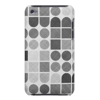 Retro Black & White Geometric Pattern Barely There iPod Case