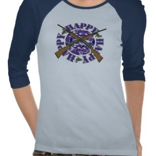 Happy Happy Happy Purple Camouflage Shotguns Ducks Tees