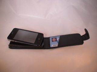 iPhone 4 4G Leder Tasche flip case mit Kreditkartenfach