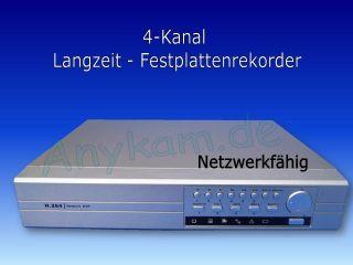 DVR Videorekorder mit Netzwerk USB H.264 Kompression