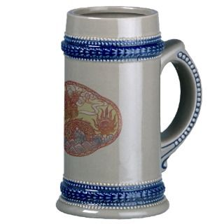 Chinese Dragon Stein Mugs