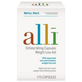 Alli Weight Loss Aid Orlistat 60mg Vorteilspackung 170 Kapseln, Refill