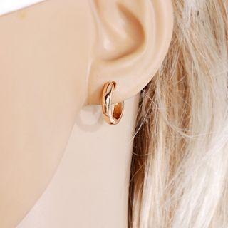 Goldschmuck Schmuck 18K Rose Gold vergoldet Perle Zirkon Ohrringe