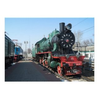 Russian steam locomotive SU214 10. Built in 1938 Custom Invites