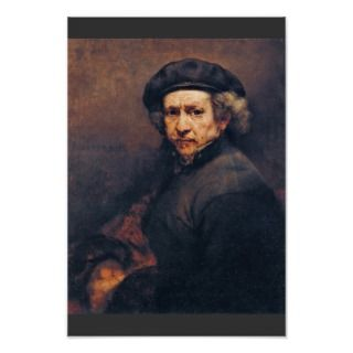 Self Portrait, By Rembrandt (Best Quality) Posters