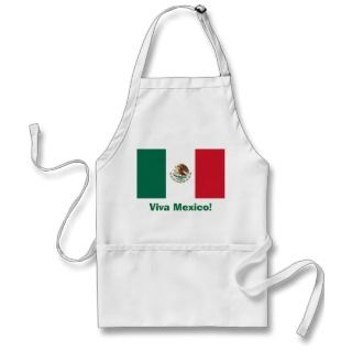 Viva Mexico with Mexican Flag Apron